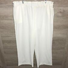 Tahari Arthur Levine Womens 16 White Career Pants Stretch NEW
