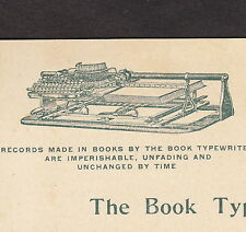 Worlds Fair 1893 Expo The Book Typewriter Rochester NY Business Advertising Card