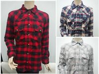 New with Tag JACHS Girlfriend Women Flannel Shirt Faux Fur Button Collar Winter