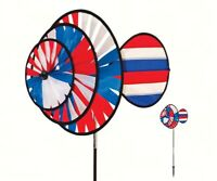 WIND SPINNERS - PATRIOTIC  Small Patriotic Triple Wheel Spinner w/Sail ITB2765