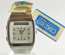 Vintage Mens Seiko Quartz Digital Analog Watch H357-5030 JDM Rare Antique