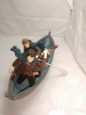 LORD OF THE RINGS FOTR - FRODO & SAMWISE GAMGEE w/ELVEN boat + paddles,  sword