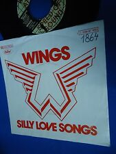 WINGS  BEATLES - SILLY LOVE SONGS - GERMANY 45 SINGLE