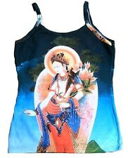 White Tara nepal Bután tipet Buddha arte tipo Designer vigas wow top camisa S/M