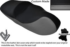 BLACK & GREY CUSTOM FITS PIAGGIO BEVERLY TOURING 125 500 DUAL LEATHER SEAT COVER