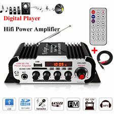 12V Car Mini HiFi Stereo Audio Amplifier Radio MP3 Karaoke USB/SD Card FM w/Mic