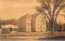 "Sherman Mills ME Town Hall ""Garage"" Eastern Illustrating Real Photo Postcard"