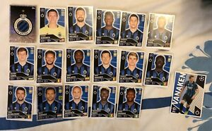 TOPPS UEFA CHAMPIONS LEAGUE 2020/21 FULL TEAM SET OF ALL 18 CLUB BRUGGE STICKERS