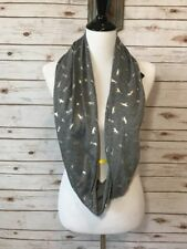 JUNIOR Women Clothing ~ Infinity Scarf ~ Gray With Silver Unicorns