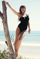 Freya Remix Black Sculpt Frilled Swimsuit One-Piece Black 3949 New Swimwear  (3)