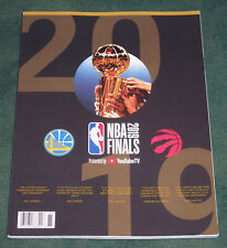 Rare 2019 NBA FINALS OFFICIAL PROGRAM - TORONTO RAPTORS vs GOLDEN STATE WARRIORS