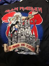 Vintage 1991 Iron Maiden Vintage T-shirt No Prayer On The Road Florida XL Black