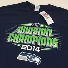 Seattle Seahawks N Division Champions 2014 Delta Pro Weight Mens XL Shirt Blue