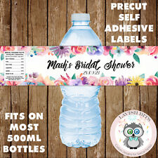 5x PERSONALISED HEN PARTY BRIDAL SHOWER WATER BOTTLE LABELS PARTY FAVOURS GIFTS