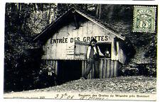 CPA Souvenir des GROTTES de MILANDRE près BONCOURT SUISSE en 1906