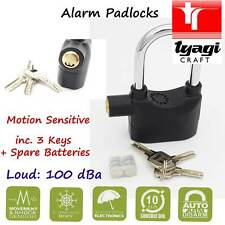Alarm Padlock Long Shackle Motion Sensitive Loud Movement Shake Sensor