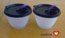 Tupperware FREE SHIPPING NEW Set 2:  Bowled over Fridge Dispenser 1 1/3 cups