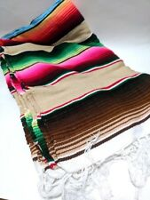 Mexican Blanket Sarape Picnic Rug Throw Tablecloth Hot Rod Yoga Mat Wrap Mexico