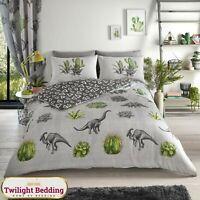 DINOSAUR DUVET COVER SET Animal Bedding Sets Reversible Quilt Covers All Sizes