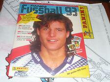 PANINI FUSSBALL 1993 ÖSTERREICHISCHE KOMPLETTSATZ + LEER ALBUM OVP MEGA RAR