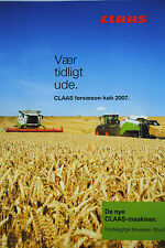 CLAAS 2007 EARLY SALES Magazine Tractors, Combines Balers Danish Text