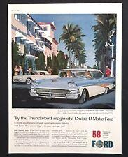 1958 Ford Fairlane Advertisement 500 Town Victoria Color Worth Ave FL Print AD
