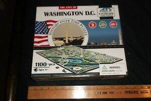 4D Cityscape History Over Time Puzzle Washington DC 1100+ Pieces- New in wrap!