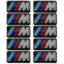 12 Logo M De BMW Sticker 3D Emblème Insigne Jantes et Volant Autocollant 19X11mm