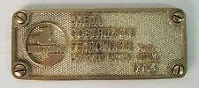 breda costruzioni ferroviarie ferrovie ferrosud matera 1994 , targa ottone
