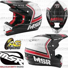 MSR 2017 Adult Helmet Legend 71 MAV3 Black White Red XL Motocross Enduro Quad