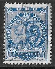1903 Old Stamp 30c Paraguay - shows lion - see scan