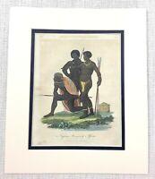 1827 Selten Antik Gravierung Afrikanischer Ureinwohner Leute Neger Von Afrika