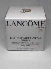 Lancome Bienfait Multi Vital Night Moisturizing Cream 1.7oz new and sealed