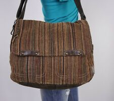 FOSSIL Medium Multi Fabric Crossbody Messenger Hobo Tote Satchel Purse Bag