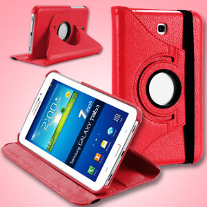 PU Leather Belt Case Cover Rotate for Samsung Galaxy Tab 3 /Lite 7.0 inch Tablet