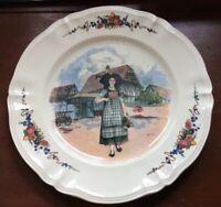 """Vintage Sarreguemines Obernai Faienceries H. Loux 12.5"""" Charger Plate  France"""