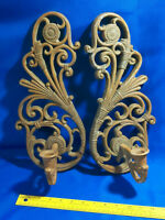 PAIR 2 Homco Syroco 3317 Rattan Wall Sconce Candelabra Candle Holder VTG MCM Mid