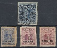 ancien timbres india inde cochin anchal