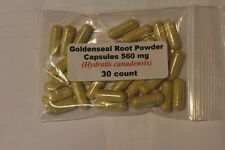 Goldenseal Root Powder Capsules (Hydrastis canadensis) 560mg    30 count