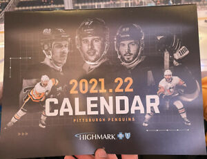 Pittsburgh Penguins 2021-22 TEAM CALENDAR Schedule 10-26-21 SGA Promo Crosby