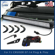 "For 07-14 Toyota FJ Cruiser 52"" LED Work Light Bar w/ Roof Upper Mount Brackets"