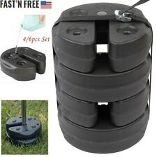 4/6pcs Tent Weights Plates Shade Canopy Water Fillable Stand Camping Trade Show
