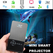 Mini Pocket Projector Bluetooth Android DLP WiFi HD Home Cinema Theater HDMI Box