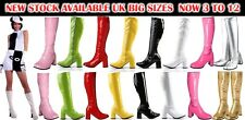 New Funtasma Women's Sexy GoGo Boots Knee High Boots Cool 60's 70s Eyelet Party