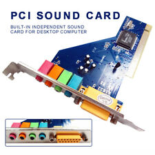 PCI-E PCI Express Sound Card 3D Surround Digital Audio 4 Channel For Desktop
