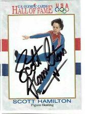 SCOTT HAMILTON Autographed Signed 1991 Impel Olympic Figure Skating Card #46