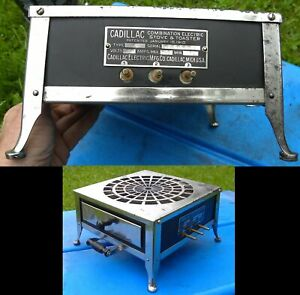 ANTIQUE HTF CADILLAC MICHIGAN EARLY 1900S ELECTRIC TOASTER HOT PLATE STOVE COMBO
