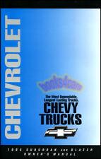 SUBURBAN BLAZER OWNERS MANUAL 1994 CHEVROLET HANDBOOK GUIDE BOOK 10 20 30 4x4 RV