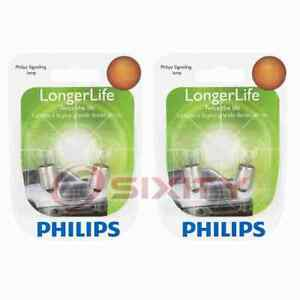2 pc Philips Front Side Marker Light Bulbs for DeLorean DMC 12 1981-1983 az