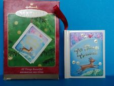 Hallmark KEEPSAKE ORNAMENT All Things Beautiful Book Dated 2000